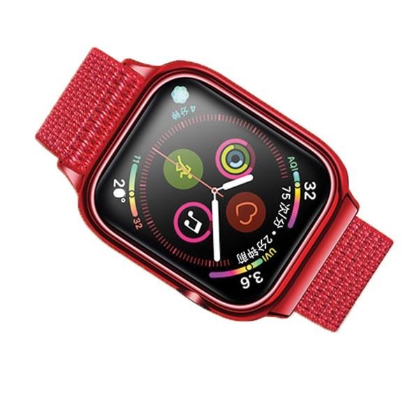 Curea Apple Watch Usams Nylon Cu Cadru Compatibila Cu Apple Watch 4 / 5 / 6 / Se (40mm), Rosu imagine itelmobile.ro 2021