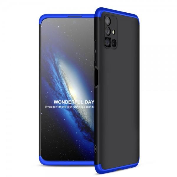 Husa Upzz Protection Compatibila Cu Samsung Galaxy M51 - Negru Albastru imagine itelmobile.ro 2021