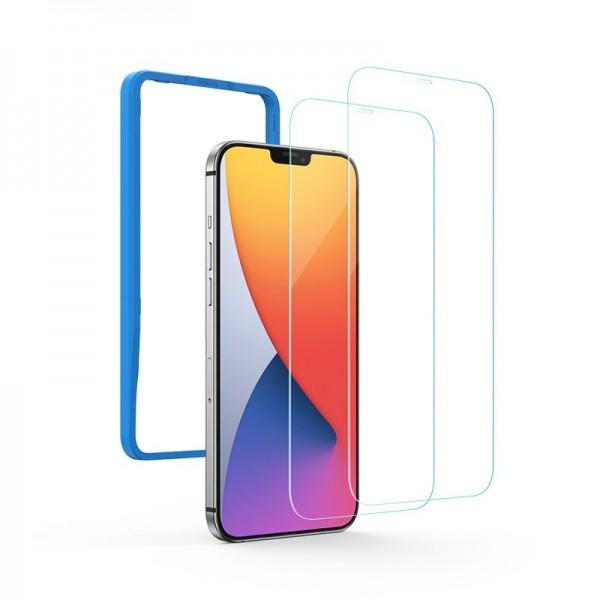 Folie Sticla Securizata Premium Ugreen Compatibila Cu iPhone 12 Pro Max, Transparenta, Case Friendly - 2 Bucati imagine itelmobile.ro 2021