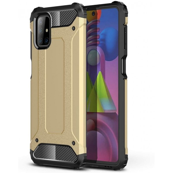 Husa Spate Upzz Armor Compatibila Cu Samsung Galaxy M51, Anti-shock, Gold imagine itelmobile.ro 2021