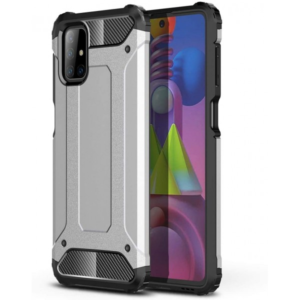 Husa Spate Upzz Armor Compatibila Cu Samsung Galaxy M51, Anti-shock, Silver imagine itelmobile.ro 2021