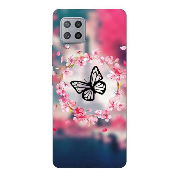 Husa Silicon Soft Upzz Print Compatibila Cu Samsung Galaxy A12 Model Butterfly imagine itelmobile.ro 2021