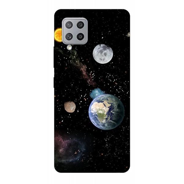 Husa Silicon Soft Upzz Print Compatibila Cu Samsung Galaxy A12 Model Earth imagine itelmobile.ro 2021