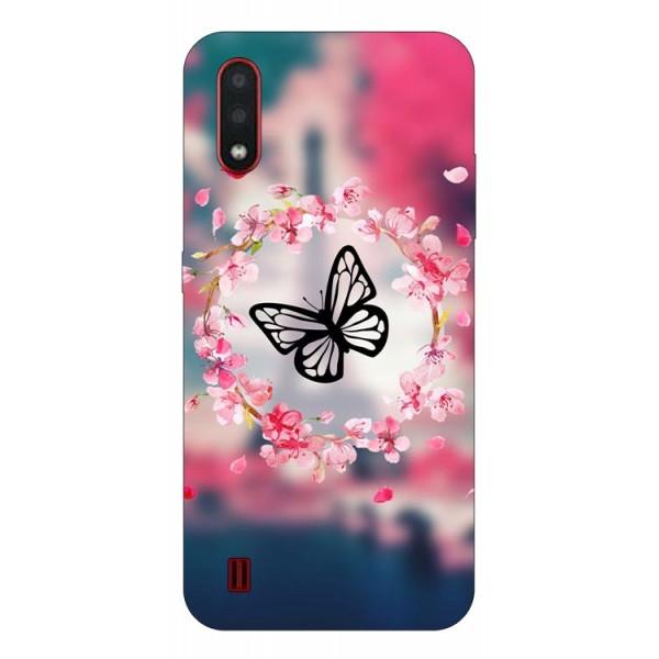 Husa Silicon Soft Upzz Print Compatibila Cu Samsung Galaxy A01 Model Butterfly imagine itelmobile.ro 2021