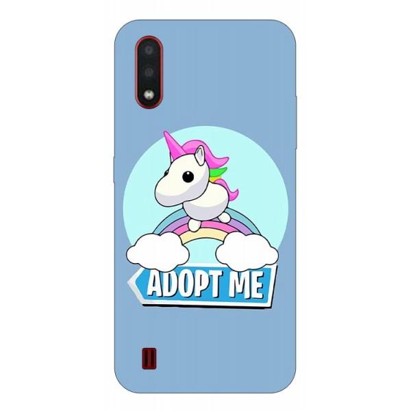 Husa Silicon Soft Upzz Print Compatibila Cu Samsung Galaxy A01 Model Pink Unicorn imagine itelmobile.ro 2021