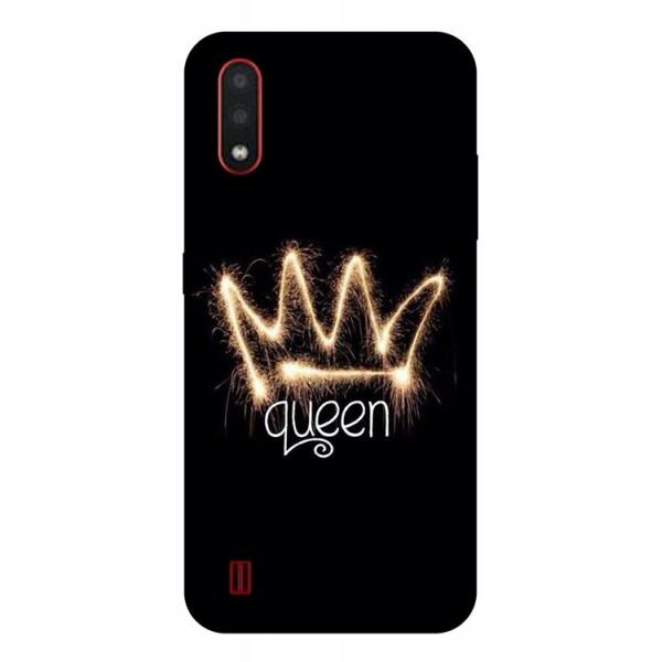Husa Silicon Soft Upzz Print Compatibila Cu Samsung Galaxy A01 Model Queen imagine itelmobile.ro 2021