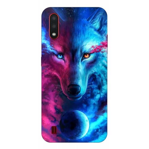 Husa Silicon Soft Upzz Print Compatibila Cu Samsung Galaxy A01 Model Wolf imagine itelmobile.ro 2021