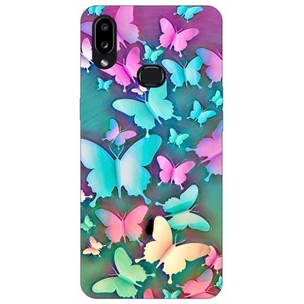 Husa Silicon Soft Upzz Print Compatibila Cu Samsung Galaxy A10s Model Colorfull Butterflies imagine itelmobile.ro 2021