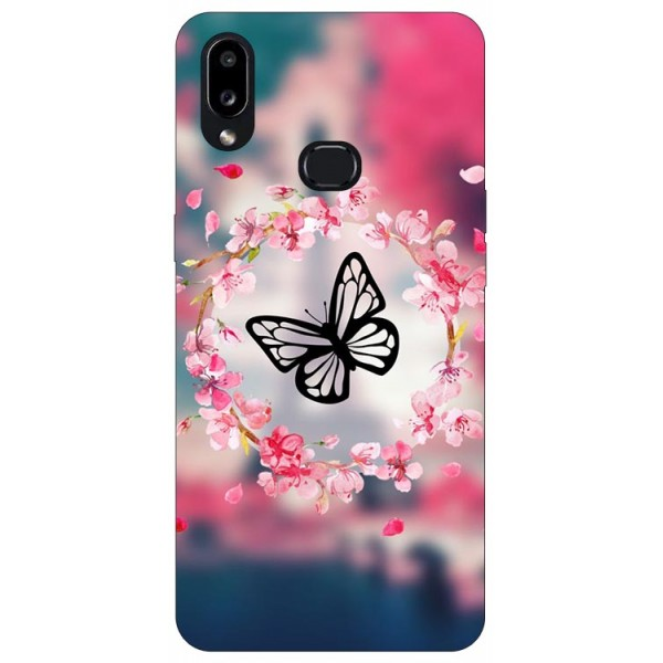 Husa Silicon Soft Upzz Print Compatibila Cu Samsung Galaxy A10s Model Butterfly imagine itelmobile.ro 2021