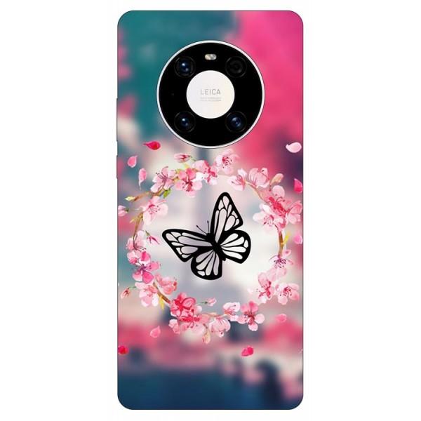 Husa Silicon Soft Upzz Print Compatibila Cu Huawei Mate 40 Model Butterfly imagine itelmobile.ro 2021