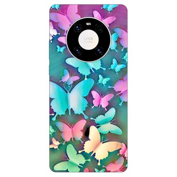 Husa Silicon Soft Upzz Print Compatibila Cu Huawei Mate 40 Model Colorfull Butterflies imagine itelmobile.ro 2021
