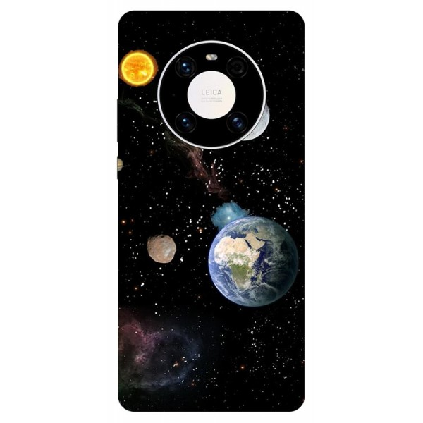 Husa Silicon Soft Upzz Print Compatibila Cu Huawei Mate 40 Pro Model Earth imagine itelmobile.ro 2021