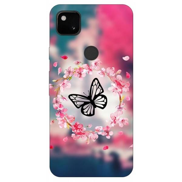 Husa Silicon Soft Upzz Print Compatibila Cu Pixel 4a Model Butterfly imagine itelmobile.ro 2021