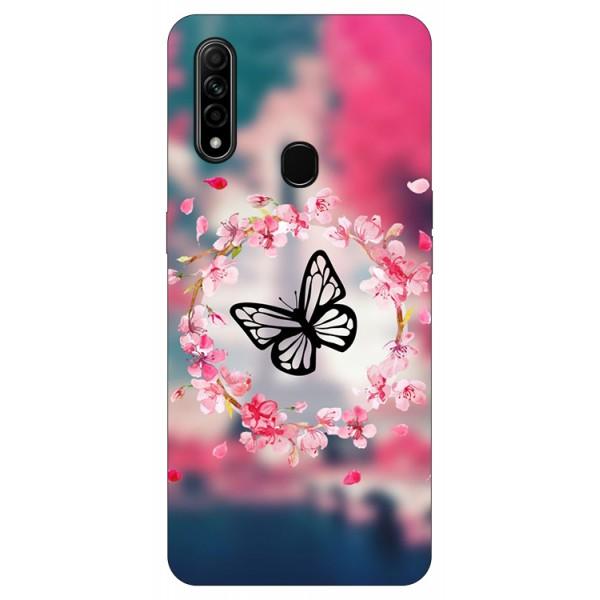 Husa Silicon Soft Upzz Print Compatibila Cu Oppo A31 Model Butterfly imagine itelmobile.ro 2021