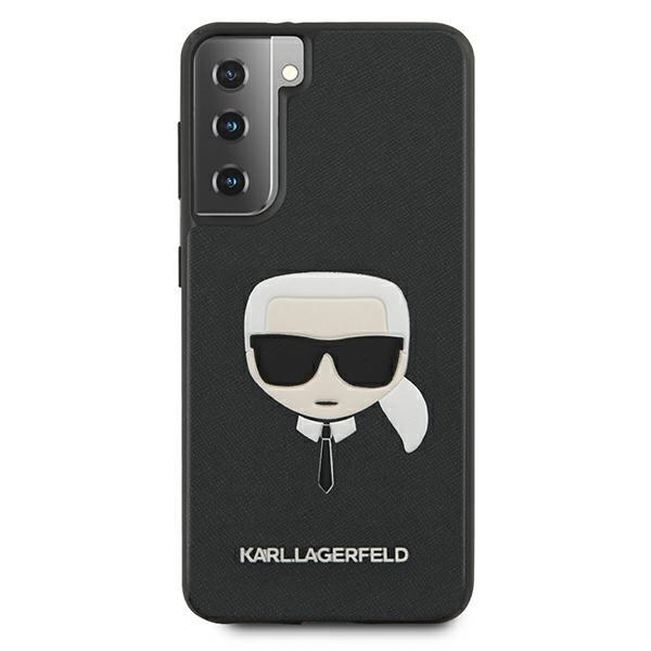 Husa Premium Originala Karl Lagerfeld Compatibila Cu Samsung Galaxy S21+ Plus, Colectia Saffiano Karl Head, Negru - 496701 imagine itelmobile.ro 2021