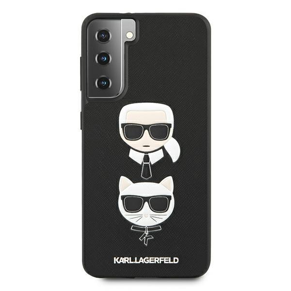 Husa Premium Originala Karl Lagerfeld Compatibila Cu Samsung Galaxy S21, Colectia Saffiano Karl Si Choupette, Negru - 496725 imagine itelmobile.ro 2021