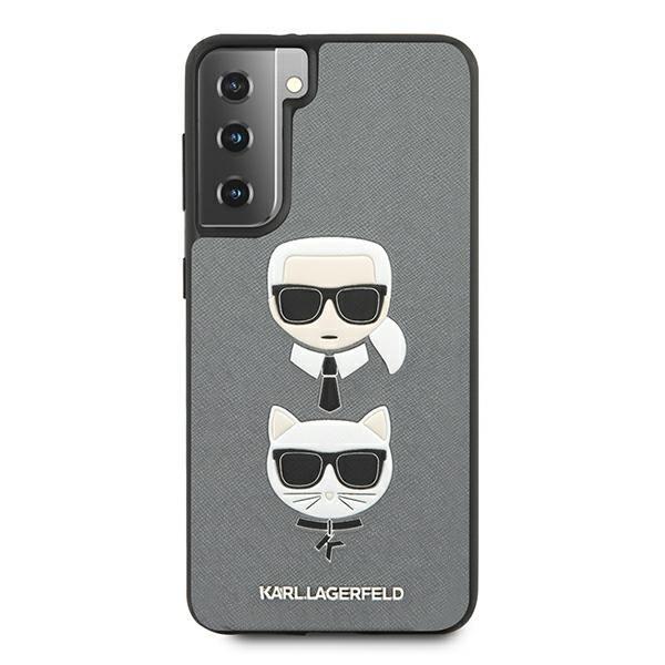 Husa Premium Originala Karl Lagerfeld Compatibila Cu Samsung Galaxy S21, Colectia Saffiano Karl Si Choupette, Gri - 6756 imagine itelmobile.ro 2021