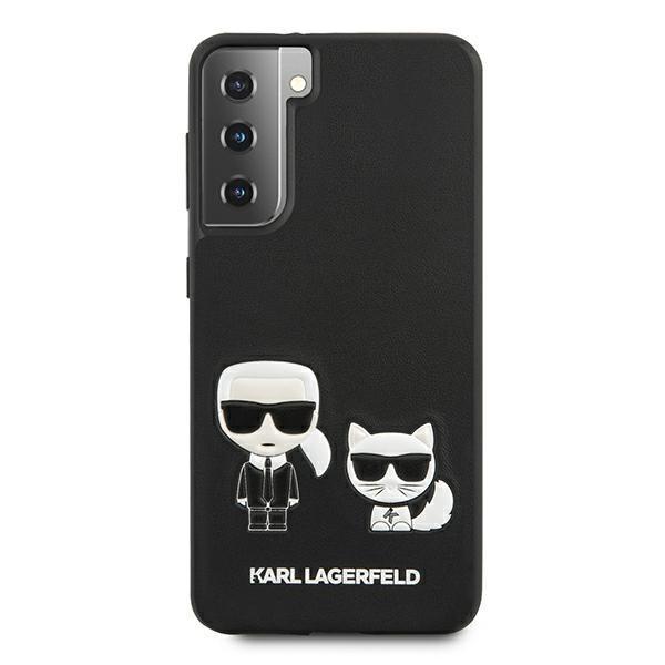 Husa Premium Originala Karl Lagerfeld Compatibila Cu Samsung Galaxy S21+ Plus, Colectia Ikonik Karl Si Choupette, Negru - 6794 imagine itelmobile.ro 2021