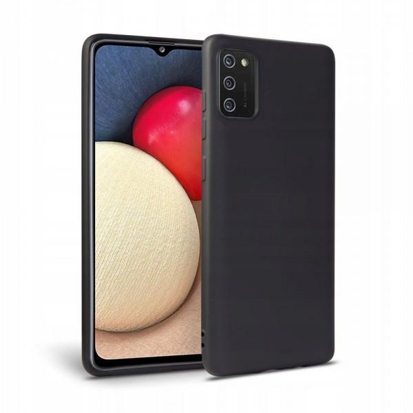 Husa Upzz Tech Icon Compatibila Cu Samsung Galaxy A02s, Invelis Interior Alcantara, Negru imagine itelmobile.ro 2021