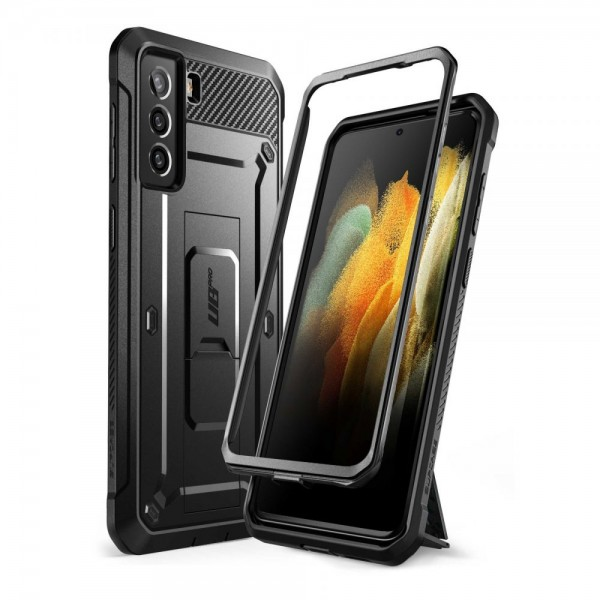 Husa Premium Supcase Unicorn Compatibila Cu Samsung Galaxy S21, Negru imagine itelmobile.ro 2021