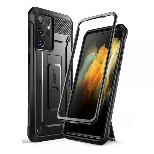 Husa Premium Supcase Unicorn Compatibila Cu Samsung Galaxy S21 Ultra, Negru imagine itelmobile.ro 2021