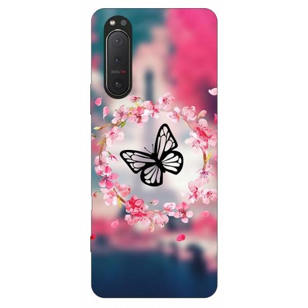 Husa Silicon Soft Upzz Print Compatibila Cu Sony Xperia 5 Ii Model Butterfly imagine itelmobile.ro 2021
