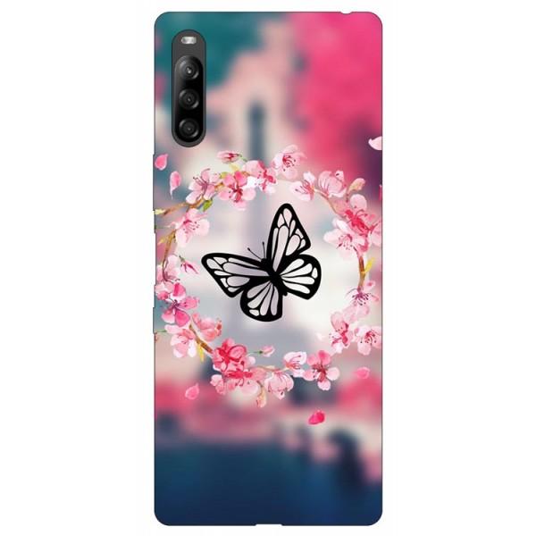 Husa Silicon Soft Upzz Print Compatibila Cu Sony Xperia L4 Model Butterfly imagine itelmobile.ro 2021