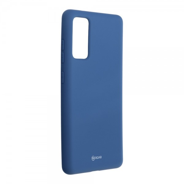 Husa Spate Silicon Roar Jelly Samsung Galaxy S20 Fe - Albastru Navy imagine itelmobile.ro 2021