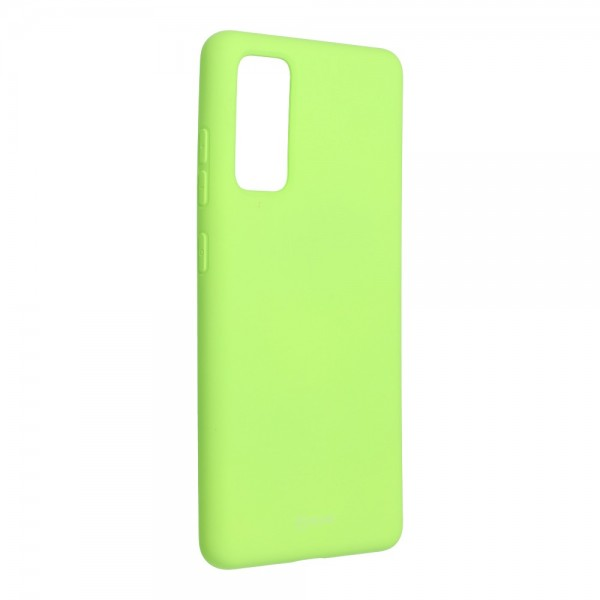 Husa Spate Silicon Roar Jelly Samsung Galaxy S20 Fe - Verde Lime imagine itelmobile.ro 2021