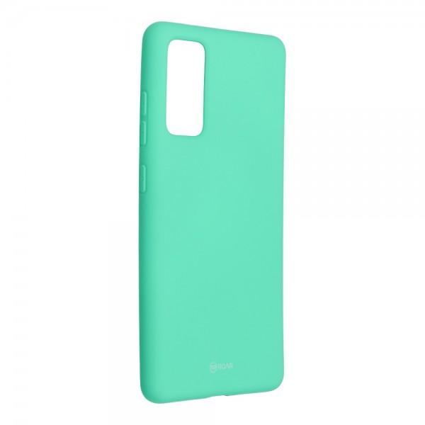 Husa Spate Silicon Roar Jelly Samsung Galaxy S20 Fe - Verde Menta imagine itelmobile.ro 2021