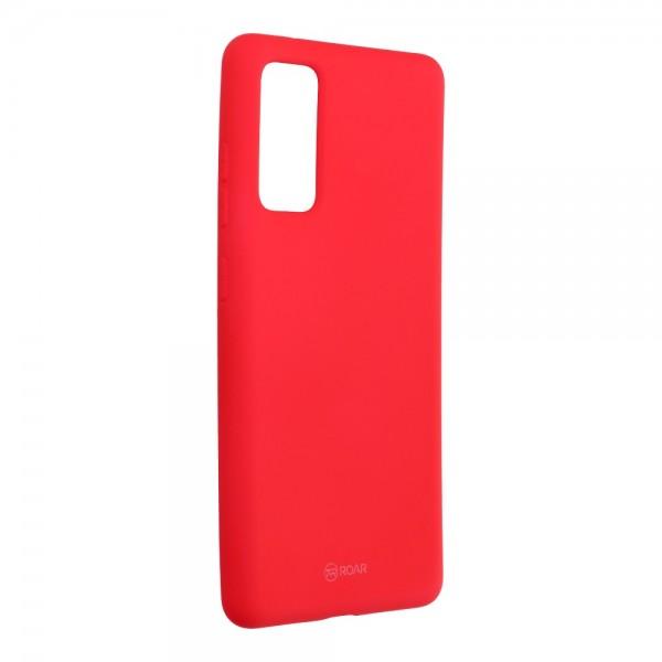 Husa Spate Silicon Roar Jelly Samsung Galaxy S20 Fe - Roz imagine itelmobile.ro 2021
