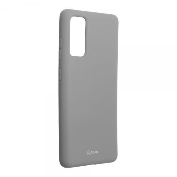 Husa Spate Silicon Roar Jelly Samsung Galaxy S20 Fe - Gri imagine itelmobile.ro 2021