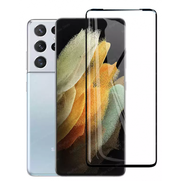Folie Sticla Securizata Rinbo Full Glue Pentru Samsung Galaxy S21 Ultra, Adeziv Pe Toata Suprafata - Case Friendly imagine itelmobile.ro 2021