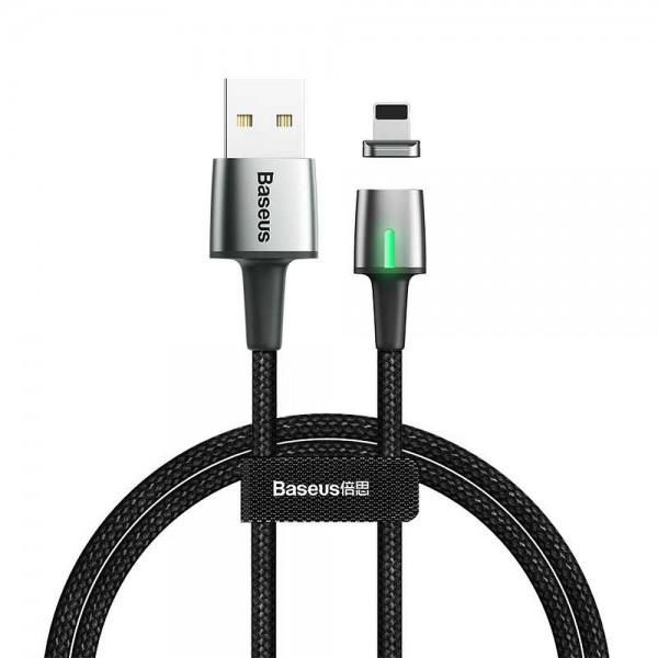Cablu Premium Baseus Magnetic Zinc Cu Mufa Lightning 1.5a, 2m, Negru - Calxc-b01 imagine itelmobile.ro 2021