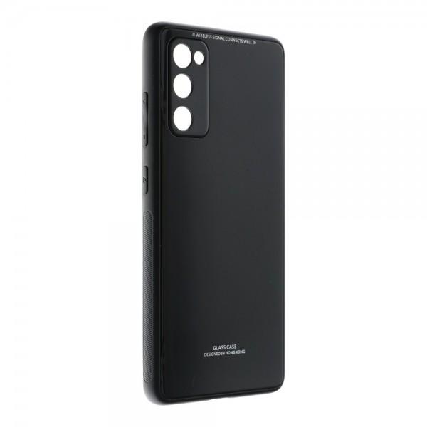 Husa Spate Upzz Glass Compatibila Cu Samsung Galaxy S20 Fe, Negru imagine itelmobile.ro 2021