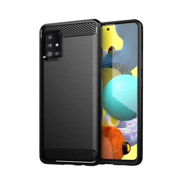 Husa Spate Upzz Carbon Pro Compatibil Cu Samsung Galaxy A52 5g, Silicon, Negru imagine itelmobile.ro 2021