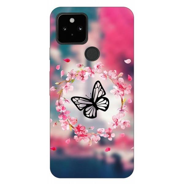 Husa Silicon Soft Upzz Print Compatibila Cu Pixel 5 Model Butterfly imagine itelmobile.ro 2021