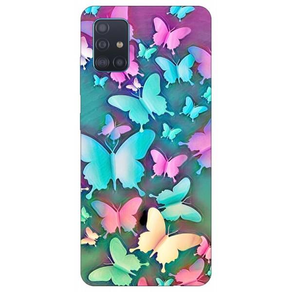 Husa Silicon Soft Upzz Print Compatibila Cu Samsung Galaxy A51 Model Colorfull Butterflies imagine itelmobile.ro 2021