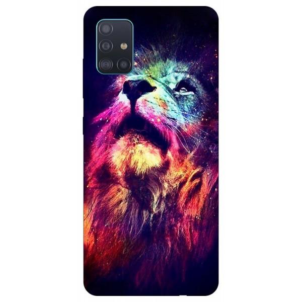 Husa Silicon Soft Upzz Print Compatibila Cu Samsung Galaxy A51 Model Neon Lion imagine itelmobile.ro 2021