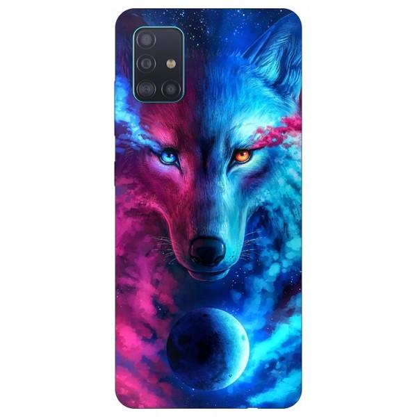 Husa Silicon Soft Upzz Print Compatibila Cu Samsung Galaxy A51 Model Wolf imagine itelmobile.ro 2021