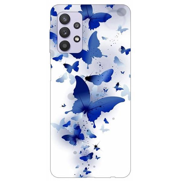 Husa Silicon Soft Upzz Print Compatibila Cu Samsung Galaxy A32 5g Model Blue Butterflies imagine itelmobile.ro 2021