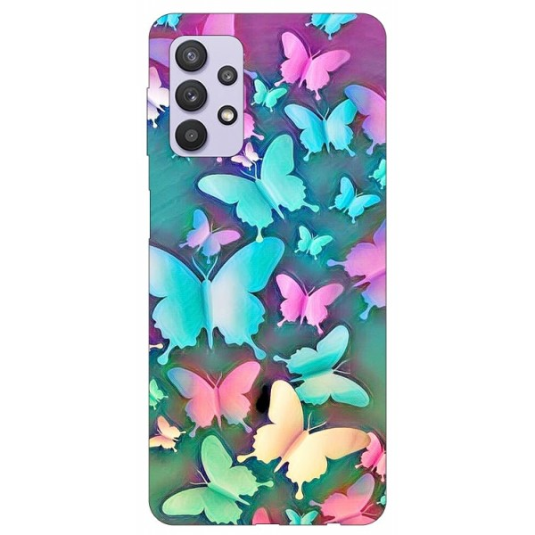 Husa Silicon Soft Upzz Print Compatibila Cu Samsung Galaxy A32 5g Model Colorfull Butterflies imagine itelmobile.ro 2021