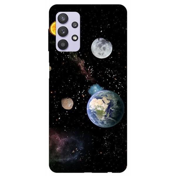 Husa Silicon Soft Upzz Print Compatibila Cu Samsung Galaxy A32 5g Model Earth imagine itelmobile.ro 2021