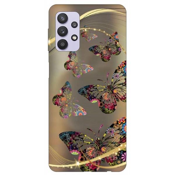 Husa Silicon Soft Upzz Print Compatibila Cu Samsung Galaxy A32 5g Model Golden Butterfly imagine itelmobile.ro 2021