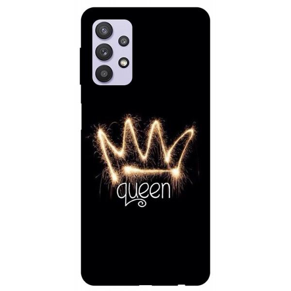 Husa Silicon Soft Upzz Print Compatibila Cu Samsung Galaxy A32 5g Model Queen imagine itelmobile.ro 2021