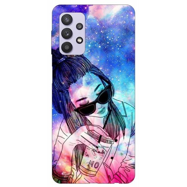 Husa Silicon Soft Upzz Print Compatibila Cu Samsung Galaxy A32 5g Model Universe Girl imagine itelmobile.ro 2021
