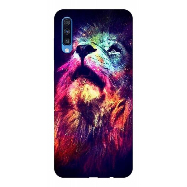 Husa Silicon Soft Upzz Print Compatibila Cu Samsung Galaxy A70 Model Neon Lion imagine itelmobile.ro 2021