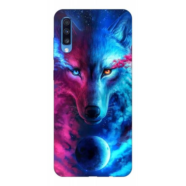 Husa Silicon Soft Upzz Print Compatibila Cu Samsung Galaxy A70 Model Wolf imagine itelmobile.ro 2021