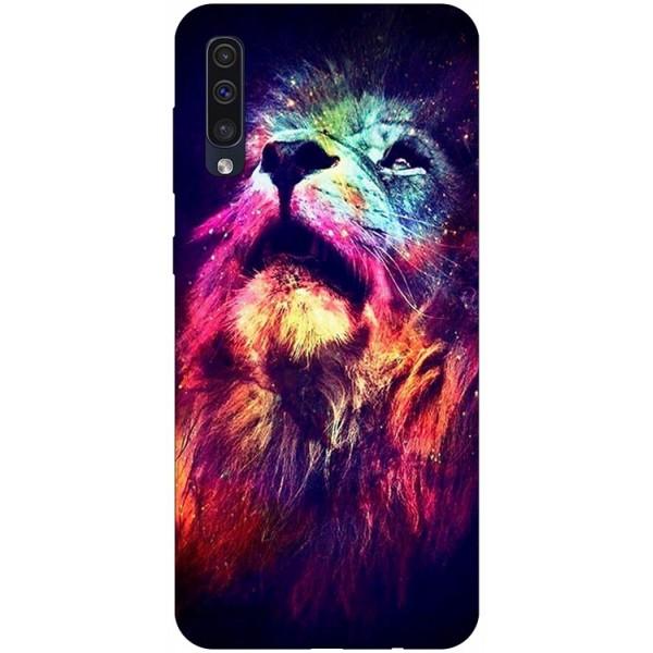 Husa Silicon Soft Upzz Print Compatibila Cu Samsung Galaxy A50 Model Neon Lion imagine itelmobile.ro 2021