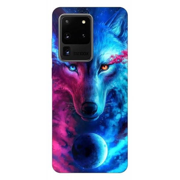 Husa Silicon Soft Upzz Print Compatibila Cu Samsung Galaxy S20 Ultra Model Wolf imagine itelmobile.ro 2021